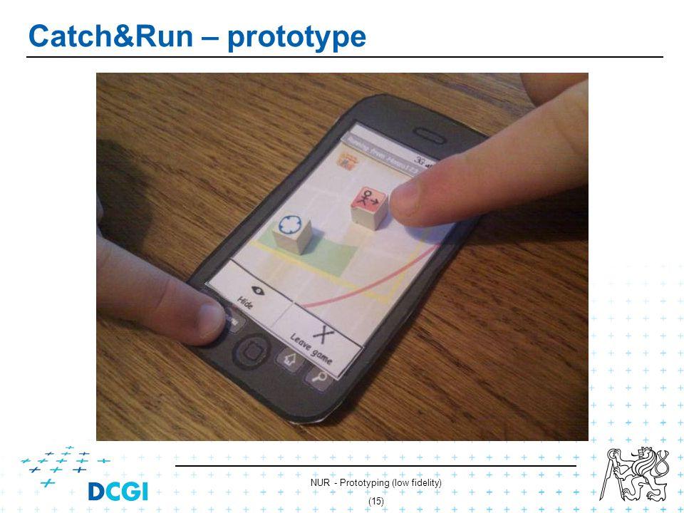NUR - Prototyping (low fidelity) (14) Catch&Run – prototype
