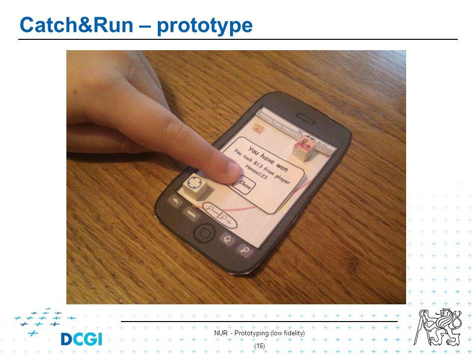 NUR - Prototyping (low fidelity) (15) Catch&Run – prototype