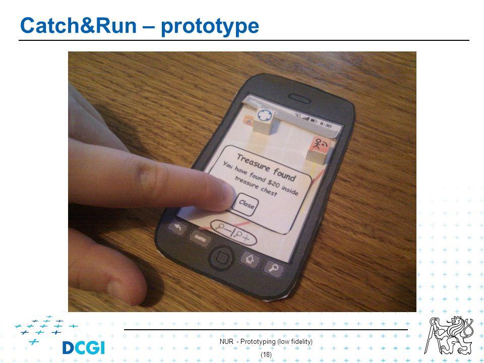 NUR - Prototyping (low fidelity) (17) Catch&Run – prototype