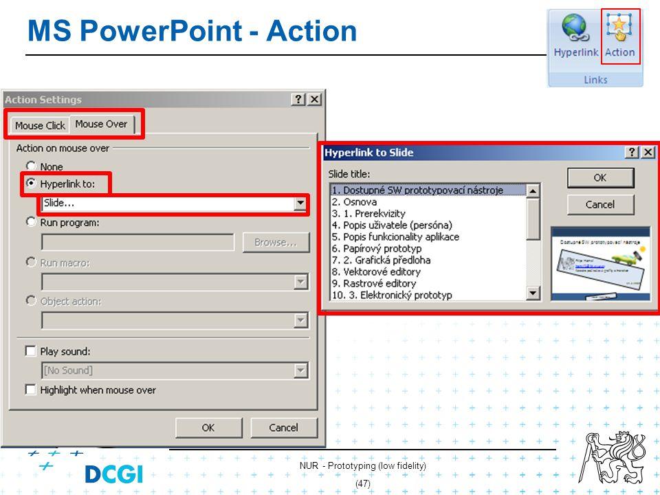 NUR - Prototyping (low fidelity) (46) MS PowerPoint - hyperlinks
