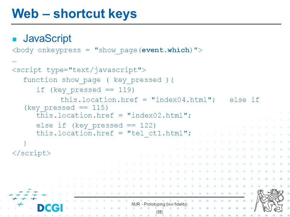 NUR - Prototyping (low fidelity) (57) Web – shortcut keys Hyperlinks link 01.html