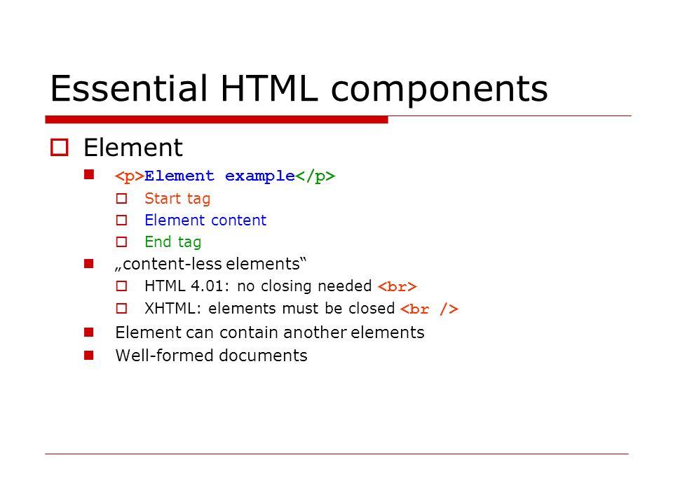 Lists Nečíslovaný seznam kolečko kroužek čtvereček Číslovaný seznam položka 1 položka 2 položka 3 Definiční seznam HTML HyperText Markup Language XML eXtensible Markup Language  http://www.vscht.cz/kot/resources/studijni-materialy/ip-s-001/p06.html http://www.vscht.cz/kot/resources/studijni-materialy/ip-s-001/p06.html