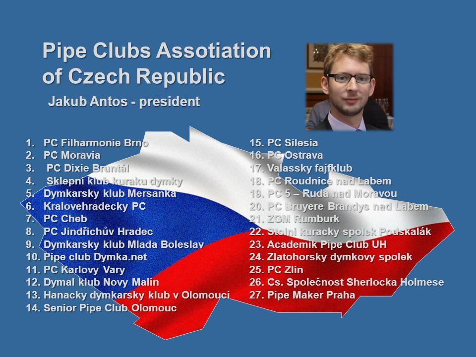 1.PC Filharmonie Brno 2.PC Moravia 3. PC Dixie Bruntál 4. Sklepni klub kuraku dymky 5.Dymkarsky klub Mersanka 6.Kralovehradecky PC 7.PC Cheb 8.PC Jind