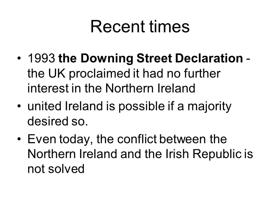 The Republic of Ireland Irish name: Éire occupies five-sixths of the island of Ireland bordered by Northern Ireland surrounded by the Atlantic Ocean (the Irish Sea, St George s Channel and the Celtic Sea) a parliamentary democracy and a republic president: Mary McAleese