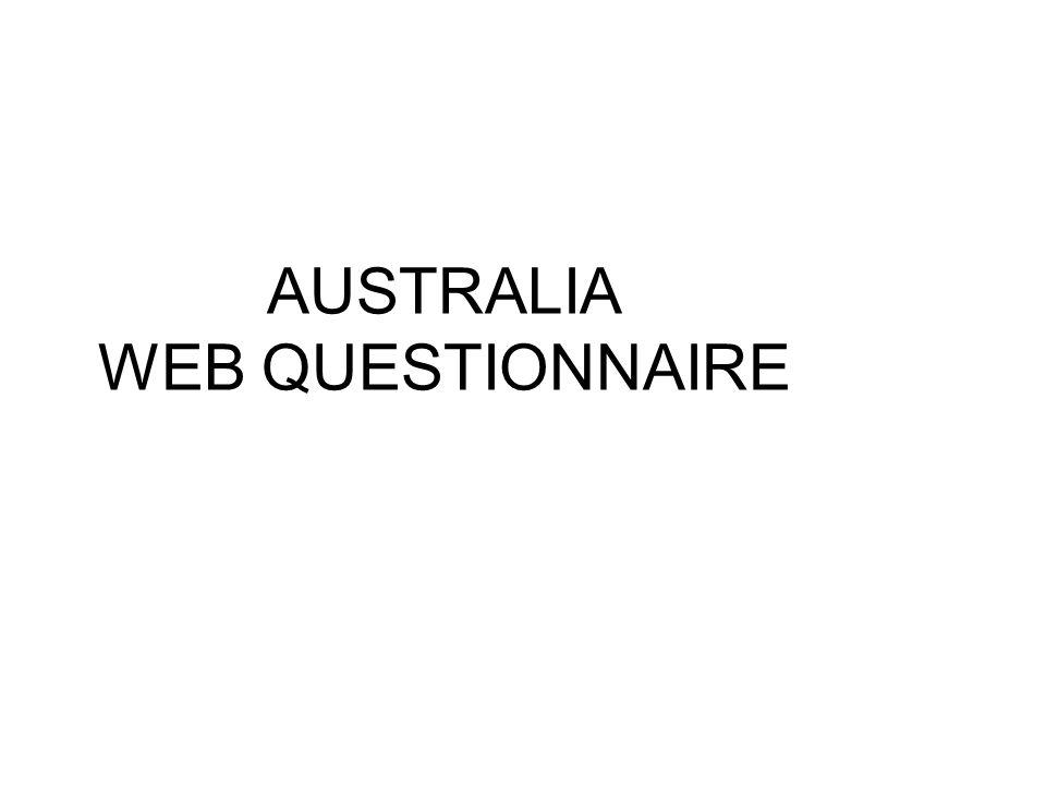 AUSTRALIA WEB QUESTIONNAIRE
