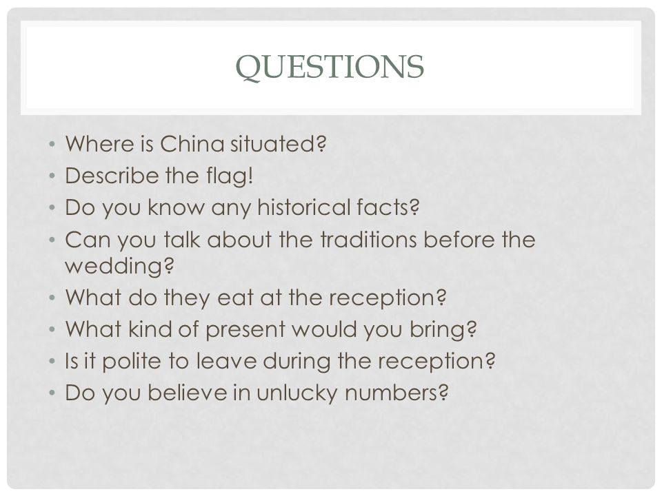 QUESTIONS Where is China situated. Describe the flag.