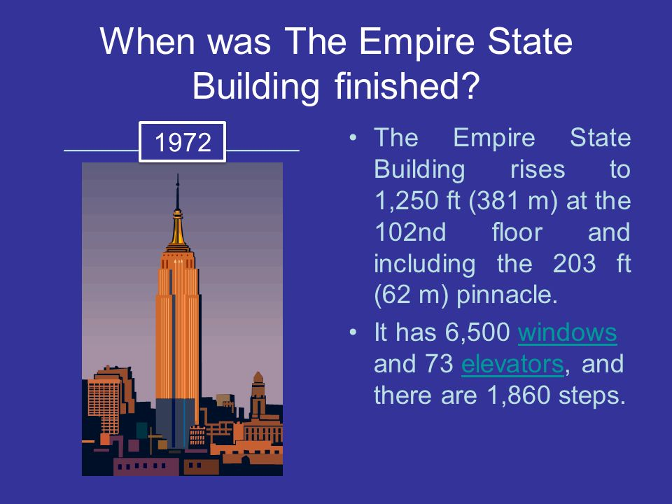 When was The Empire State Building finished.