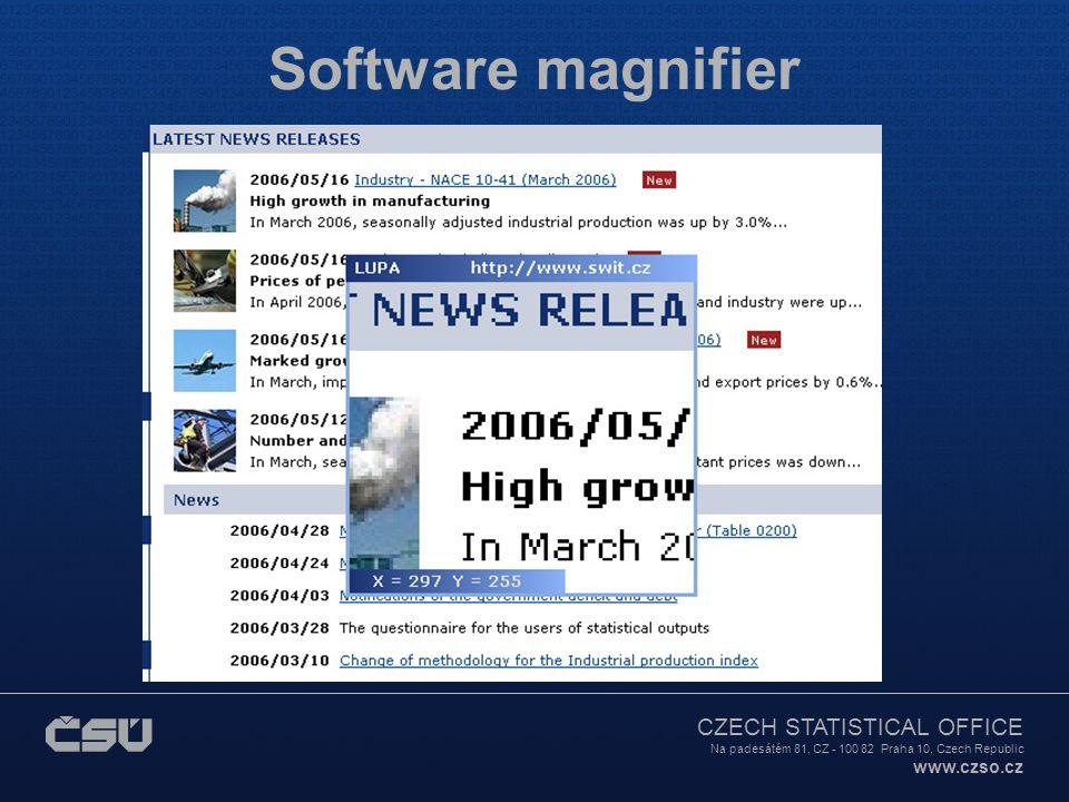 CZECH STATISTICAL OFFICE Na padesátém 81, CZ - 100 82 Praha 10, Czech Republic www.czso.cz Software magnifier