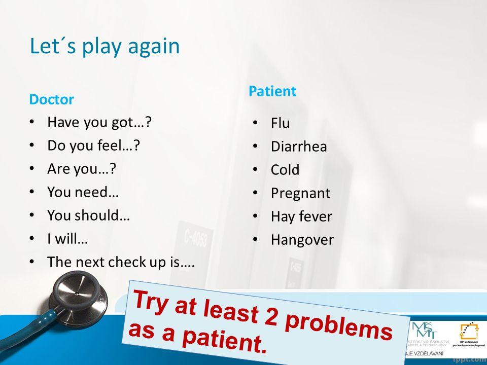 Maturita questions… Otevřené maturitní otázky Nemoci: Are you often ill.