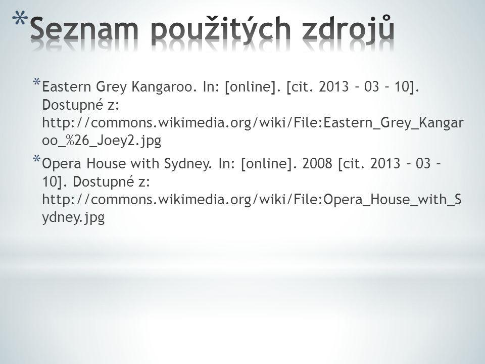 * Eastern Grey Kangaroo. In: [online]. [cit. 2013 – 03 – 10].