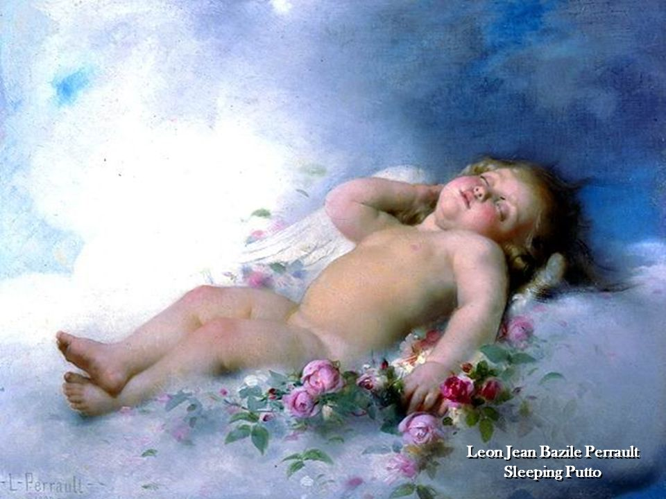 Leon Jean Bazile Perrault Sleeping Putto
