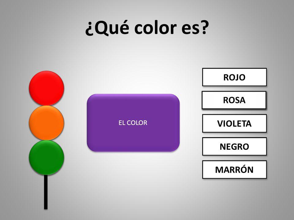 Ejercicio Busca y selecciona la opción correcta. ¿Qué color es.