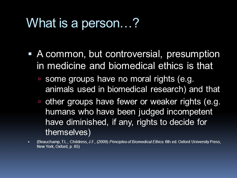 What is a person….