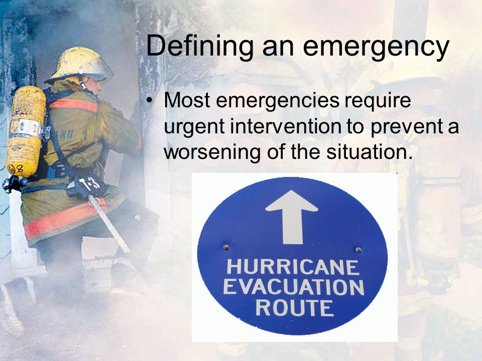 Emergency service Most developed countries have a number of emergency services operating within them, whose purpose is to provide assistance in dealing with any emergency which may occur.