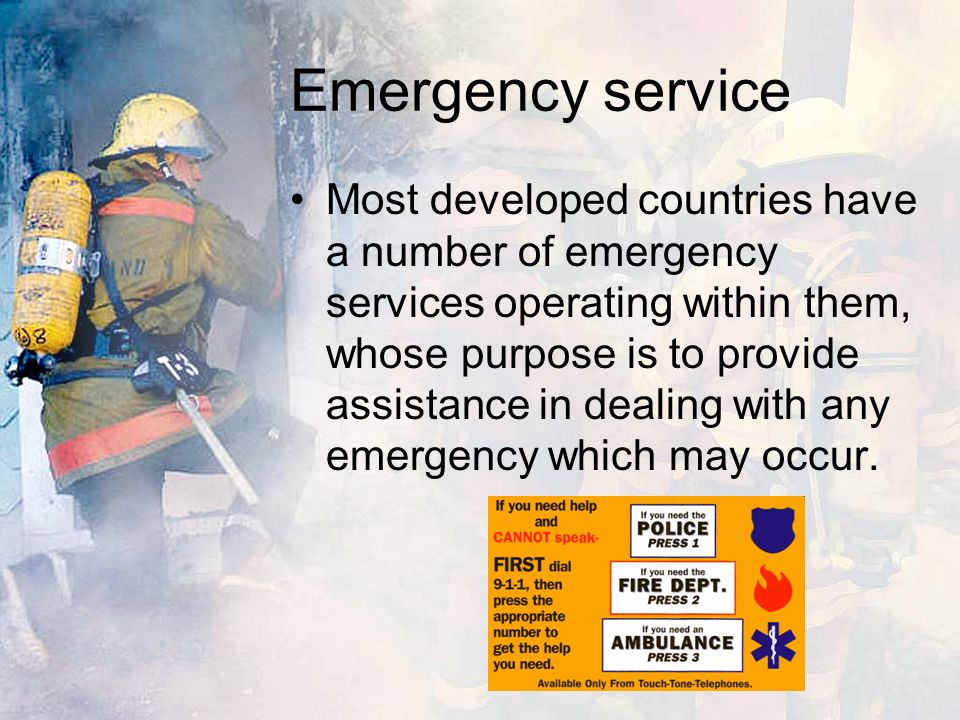Emergency service They are often government operated, paid for from tax revenue as a public service, but in some cases, they may be private companies, responding to emergencies in return for payment, or they may be voluntary organizations, providing the assistance from funds raised from donations.