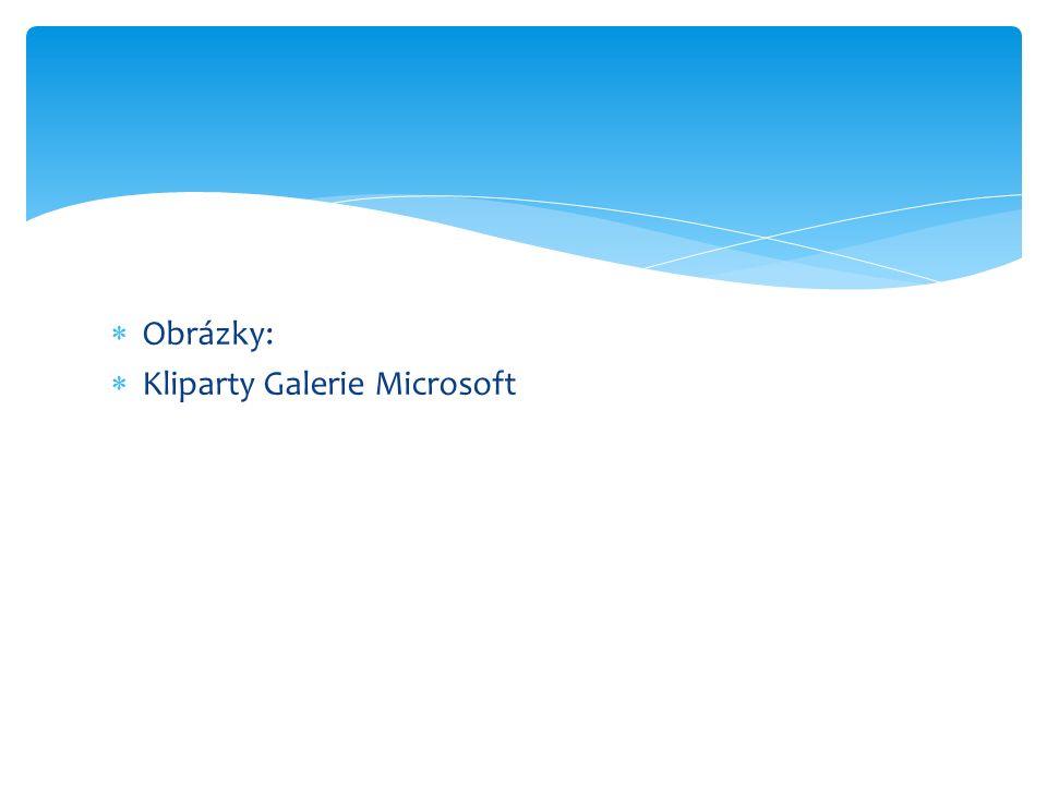  Obrázky:  Kliparty Galerie Microsoft