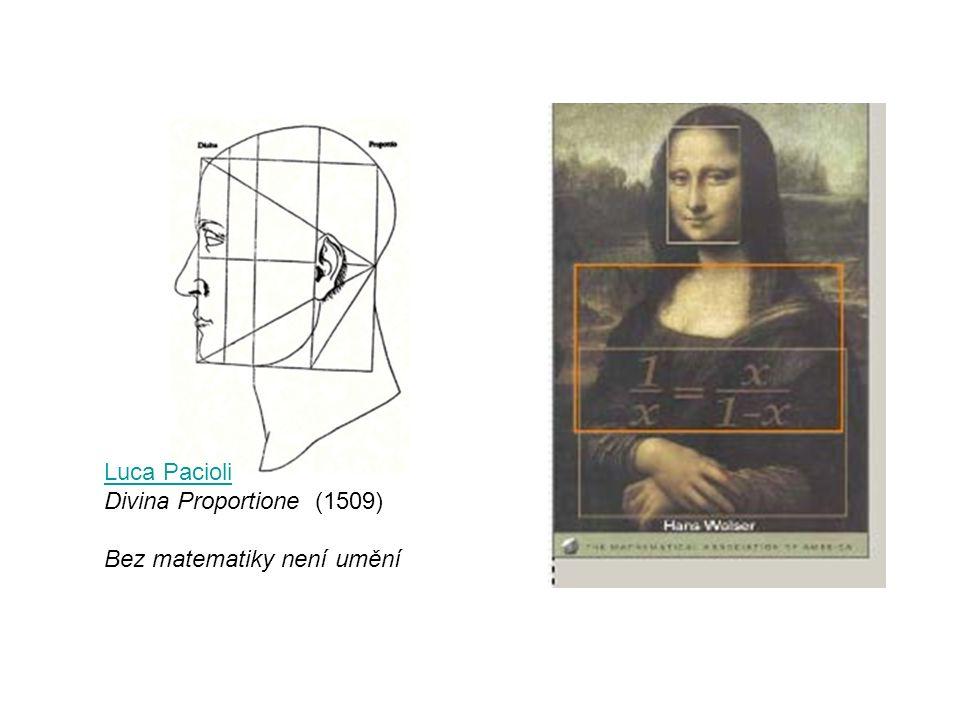 Luca Pacioli Divina Proportione (1509) Bez matematiky není umění