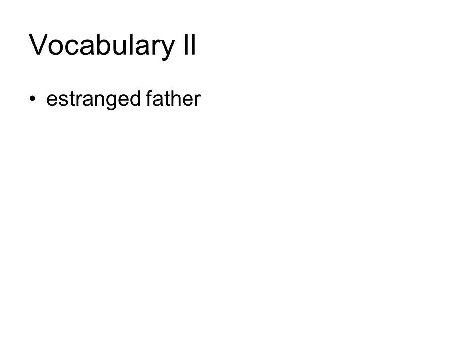 Vocabulary II estranged father