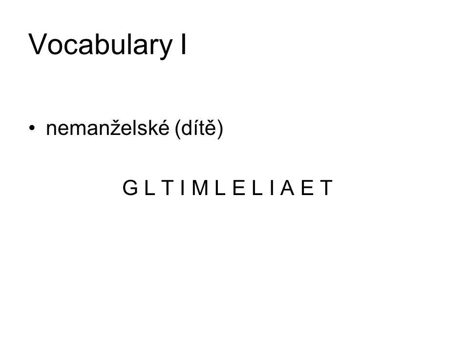 Vocabulary II community property