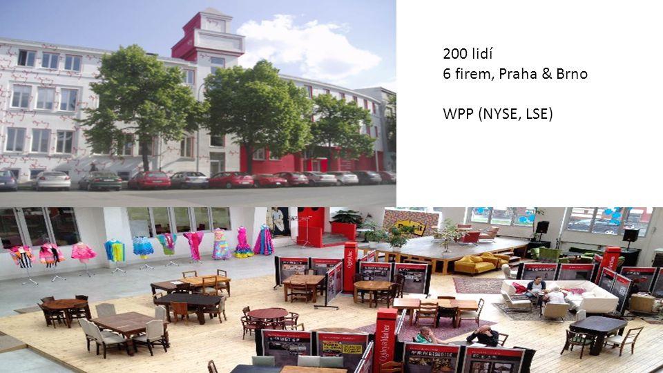 200 lidí 6 firem, Praha & Brno WPP (NYSE, LSE)