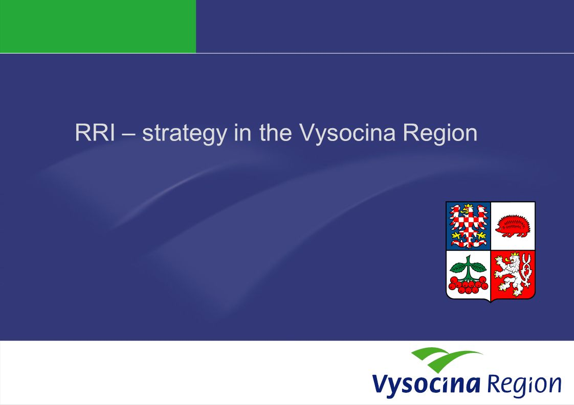RRI – strategy in the Vysocina Region