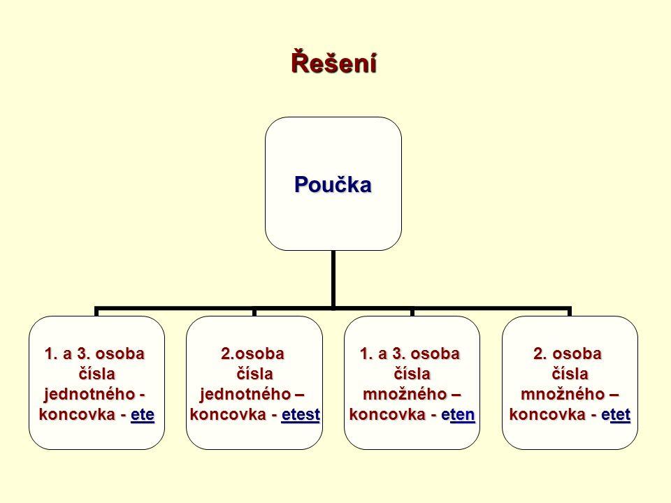 ŘešeníPoučka 1. a 3.