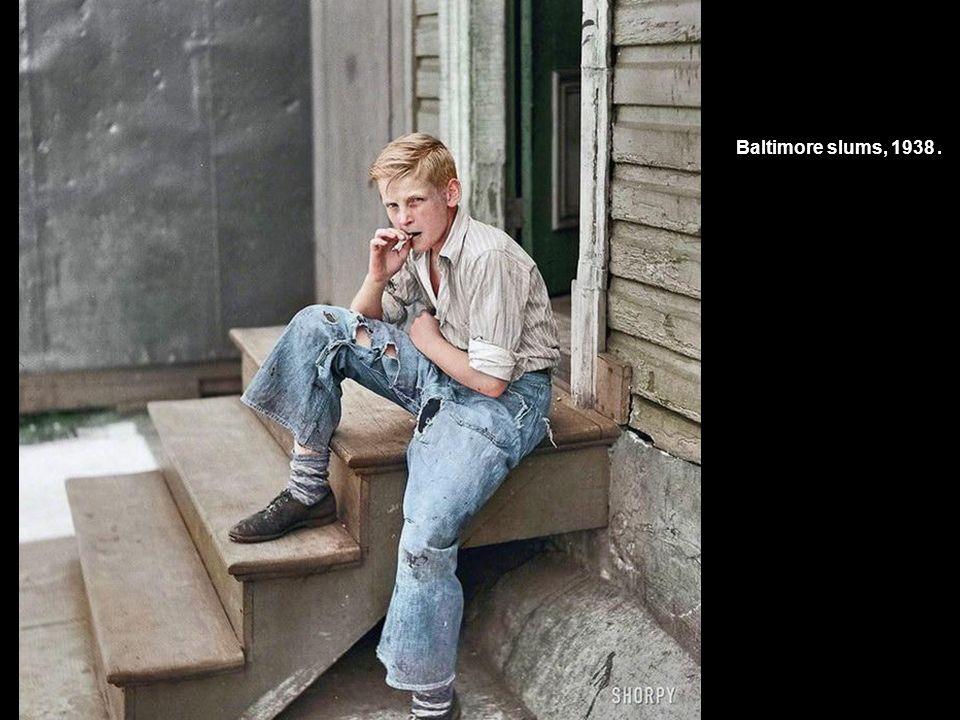 Baltimore slums, 1938.