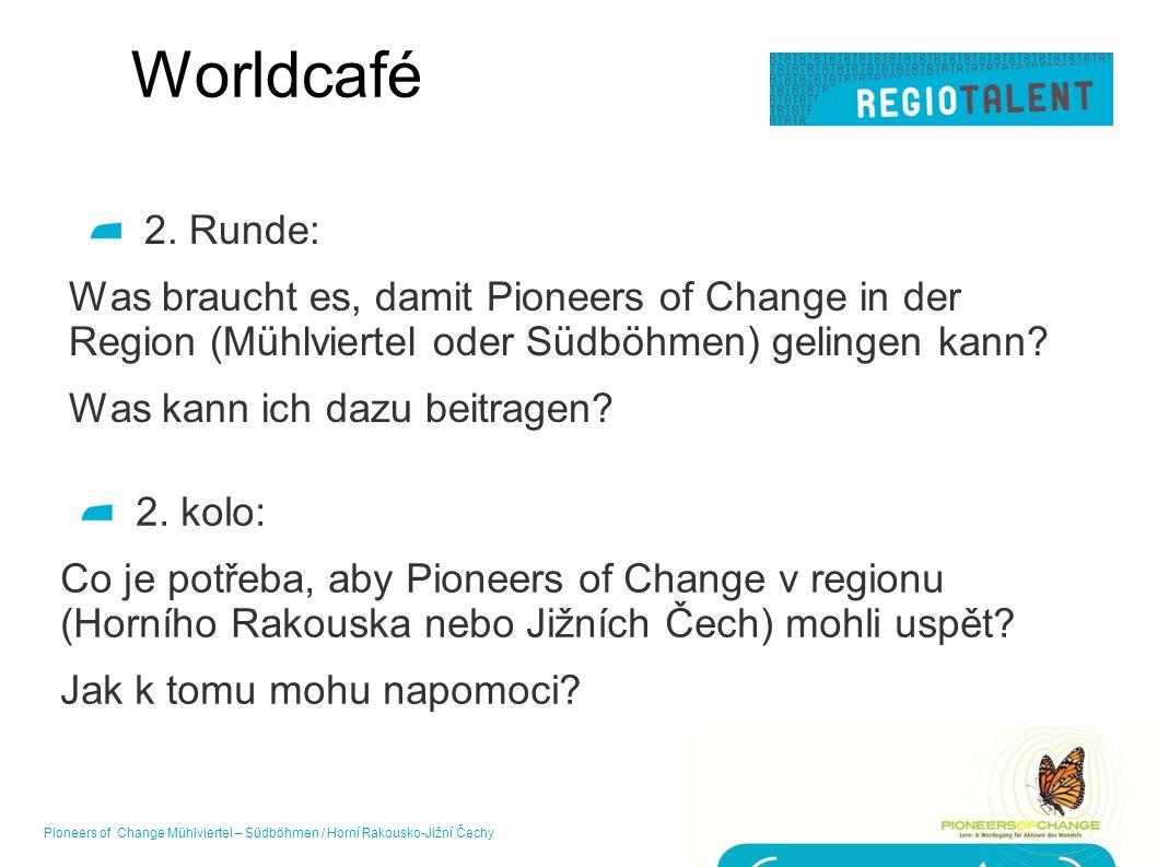 Worldcafé 2. Runde: Was braucht es, damit Pioneers of Change in der Region (Mühlviertel oder Südböhmen) gelingen kann? Was kann ich dazu beitragen? 17