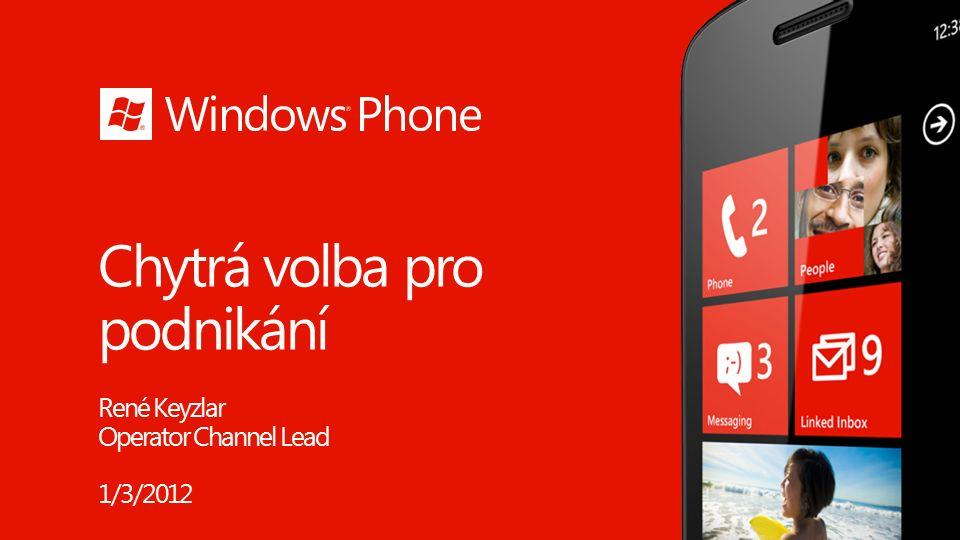 Windows Phone Svět příležitostí v podnikání 2 150M 100M 1B