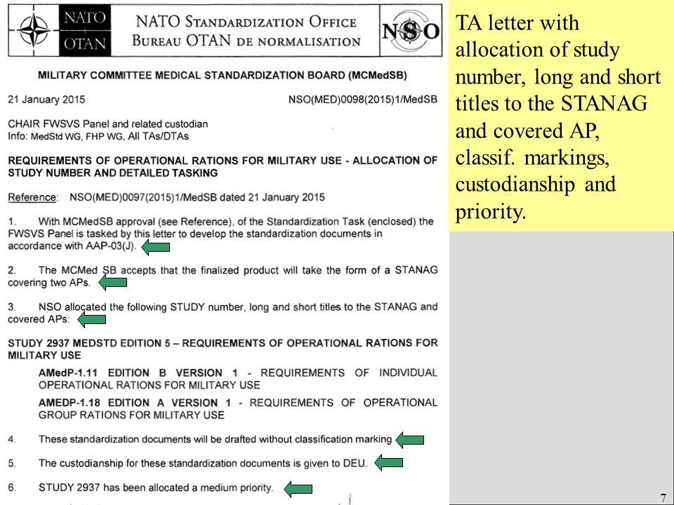Úřad pro obrannou standardizaci, katalogizaci a státní ověřování jakosti Odbor obranné standardizace 18 NATO letter of promulgation of STANREC, covering following standards: -ADMP-01, -ADMP-02, - ISO …, IEC …