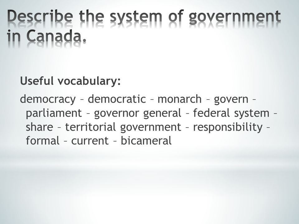 Useful vocabulary: to be bordered by – border – cover – Canadian Rocky Mountains – vast – provinces – territories – continental climate – animal species – commonly – extensive
