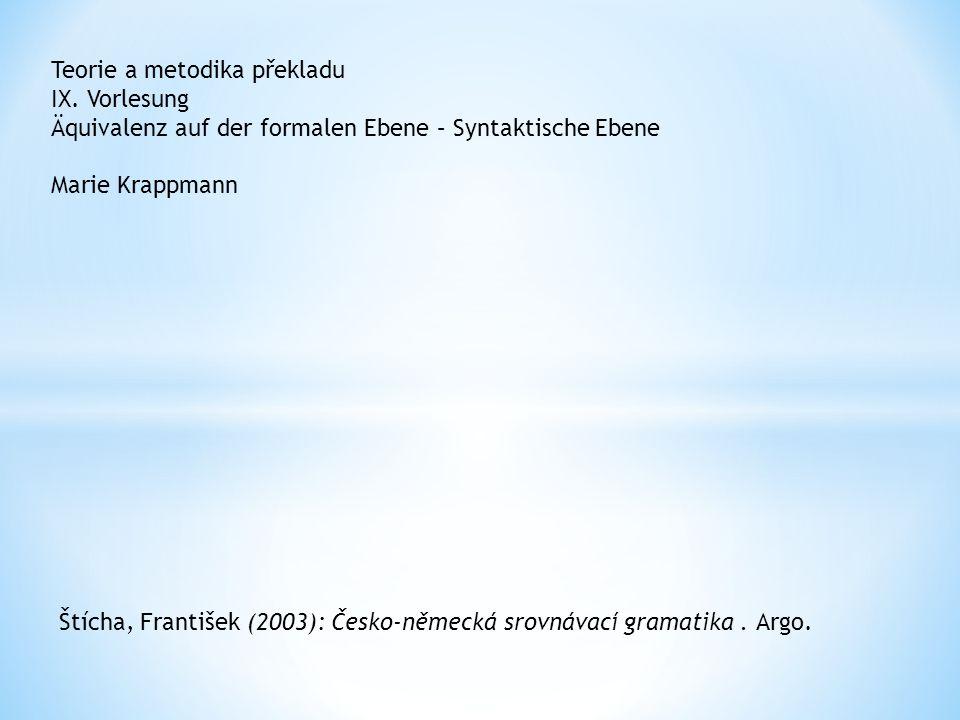 Teorie a metodika překladu IX.