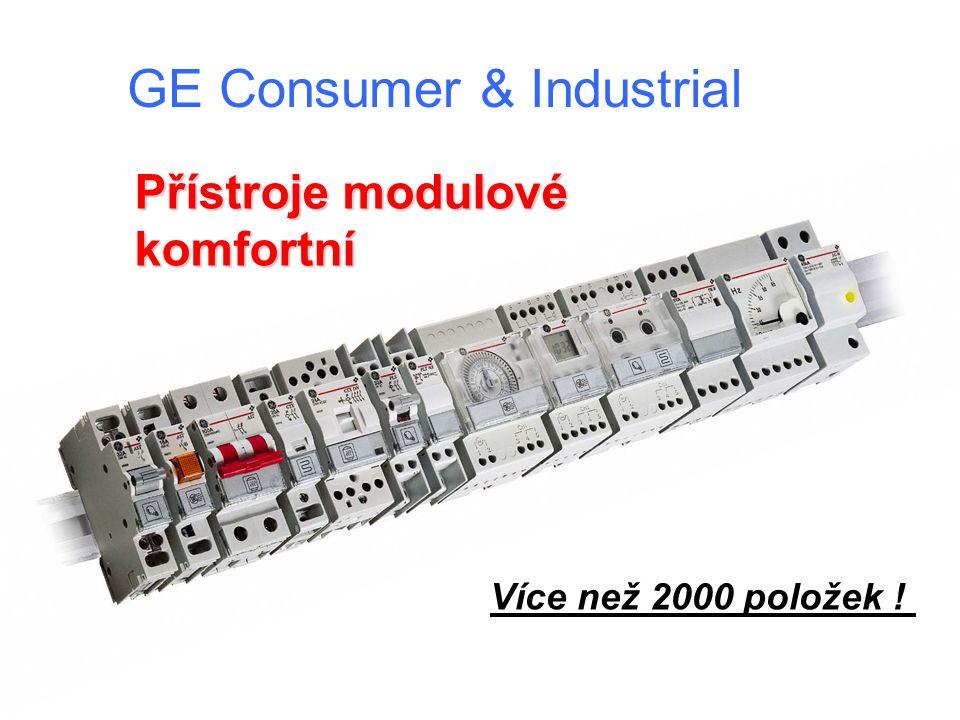 GE Consumer & Industrial Přístroje modulové komfortní Více než 2000 položek !