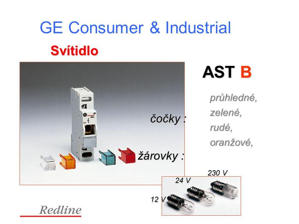 GE Consumer & Industrial Svítidlo AST B čočky : průhledné, oranžové, zelené, rudé, žárovky : 12 V 24 V 230 V