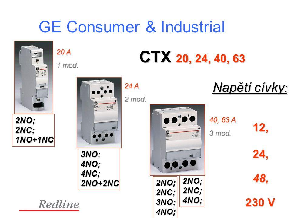 CTX 20, 24, 40, 63 24 A 2 mod.40, 63 A 3 mod. 20 A 1 mod.