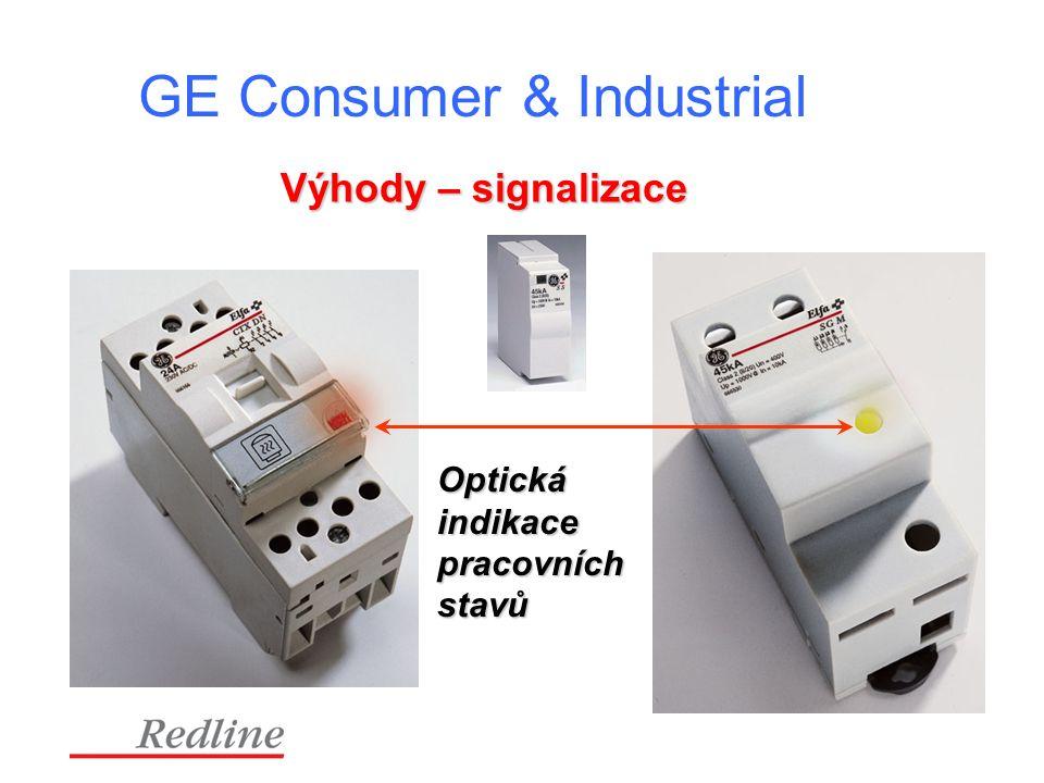 GE Consumer & Industrial Výhody – signalizace Optickáindikacepracovníchstavů
