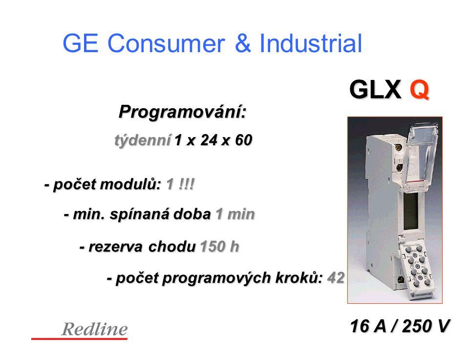 GE Consumer & Industrial GLX Q Programování: 16 A / 250 V týdenní 1 x 24 x 60 - počet modulů: 1 !!.