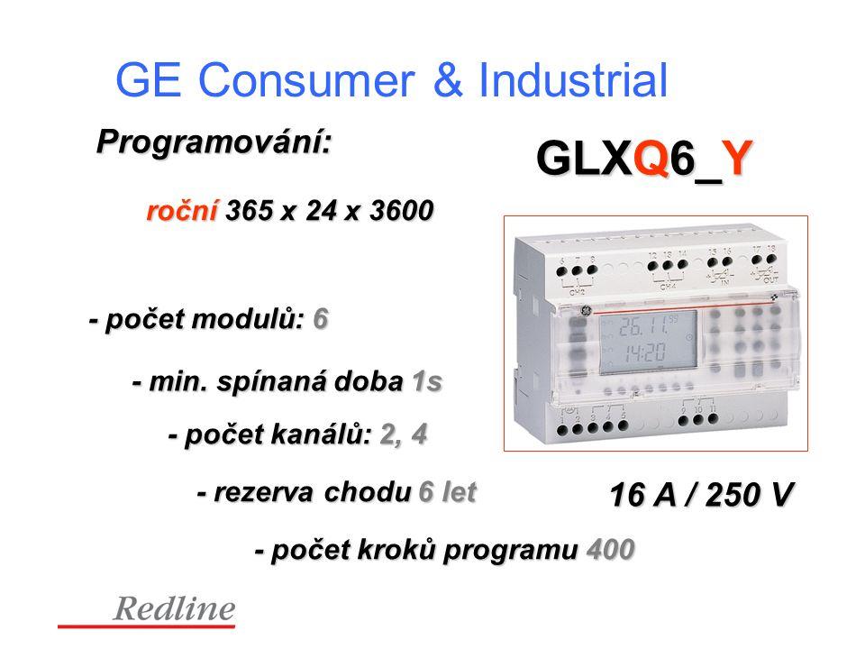 GE Consumer & Industrial GLXQ6_Y Programování: 16 A / 250 V roční 365 x 24 x 3600 - počet modulů: 6 - min.
