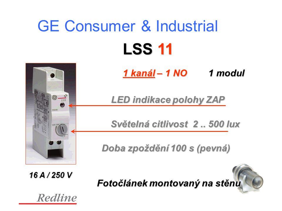 GE Consumer & Industrial LSS 11 1 kanál – 1 NO Světelná citlivost 2..