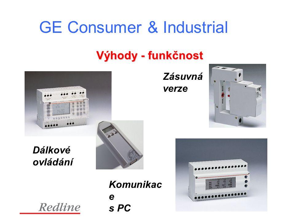 GE Consumer & Industrial Výhody - funkčnost Zásuvná verze Dálkové ovládání Komunikac e s PC