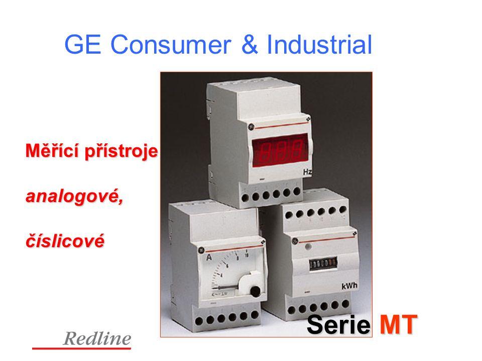GE Consumer & Industrial Serie MT Měřící přístroje analogové,číslicové