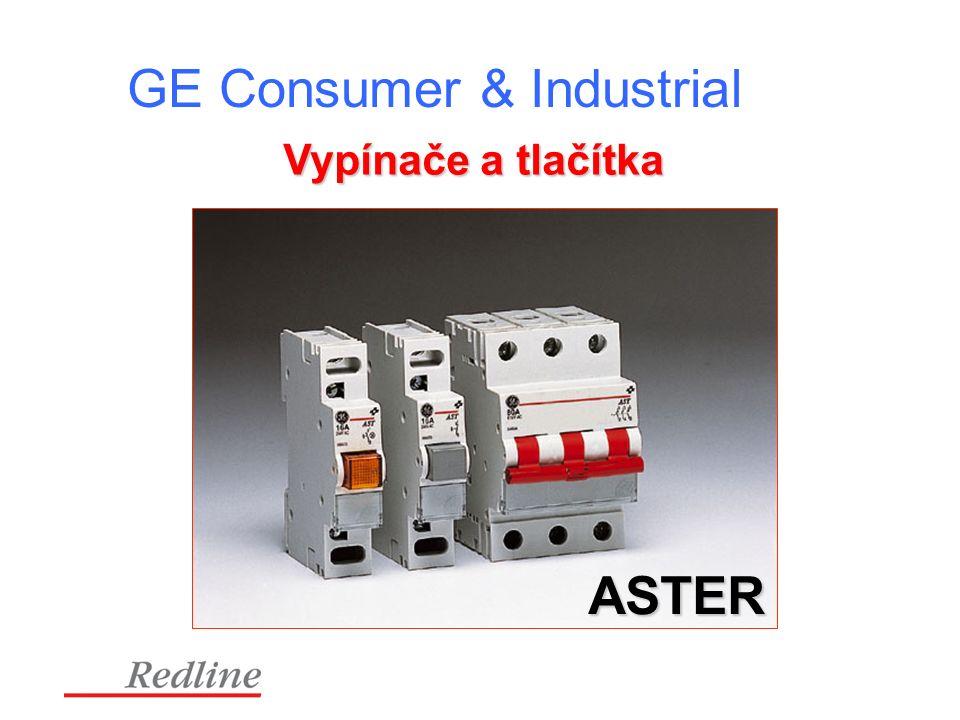 GE Consumer & Industrial Vypínače a tlačítka ASTER