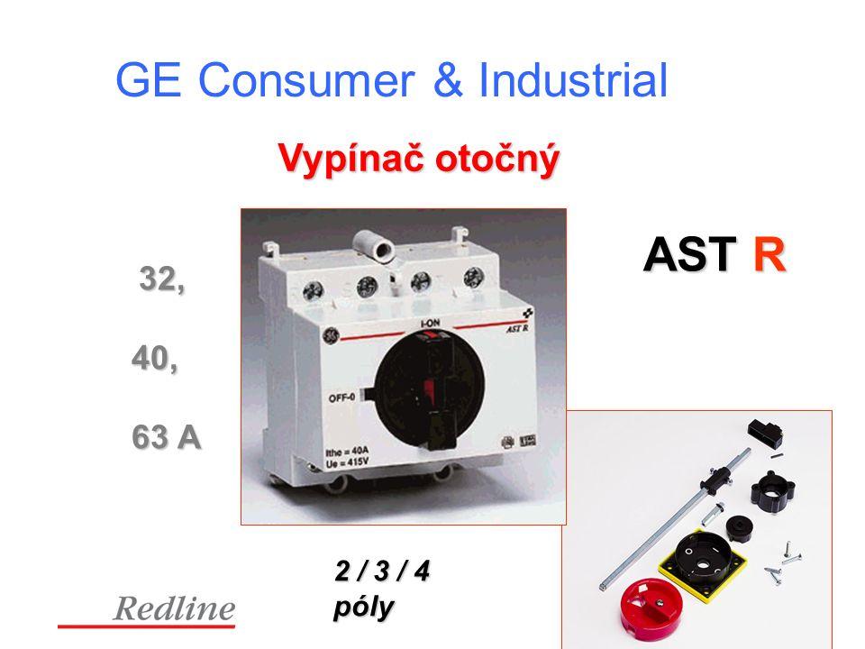 GE Consumer & Industrial AST R 32, 40, 63 A 2 / 3 / 4 póly Vypínač otočný