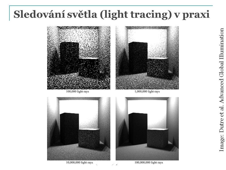 Sledování světla (light tracing) v praxi PG III (NPGR010) - J. Křivánek 2014 Image: Dutre et al. Advanced Global Illumination