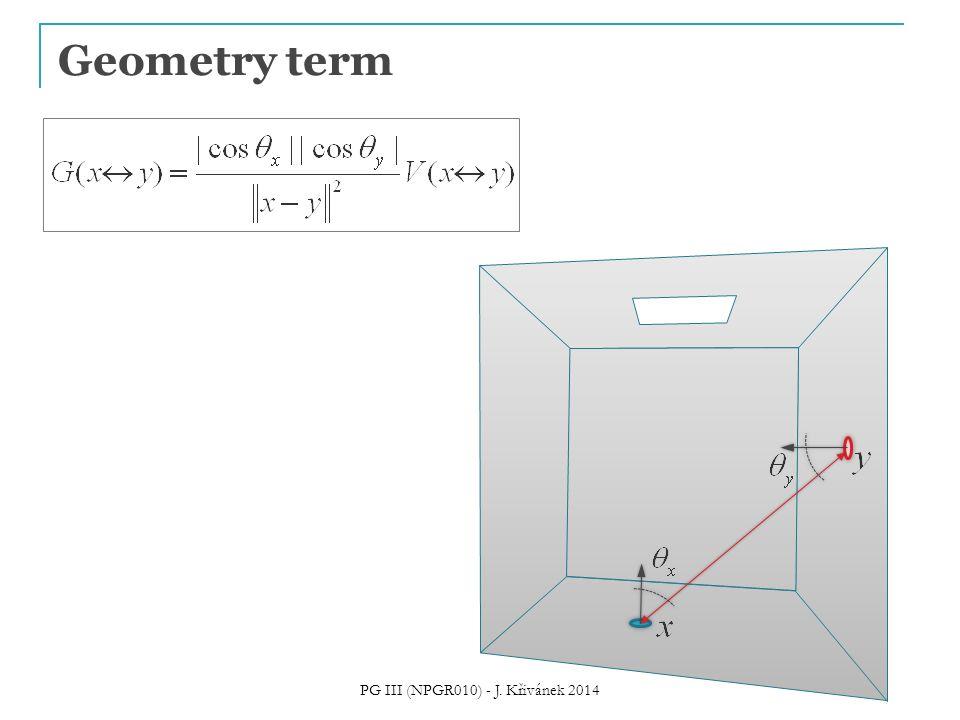 Geometry term PG III (NPGR010) - J. Křivánek 2014
