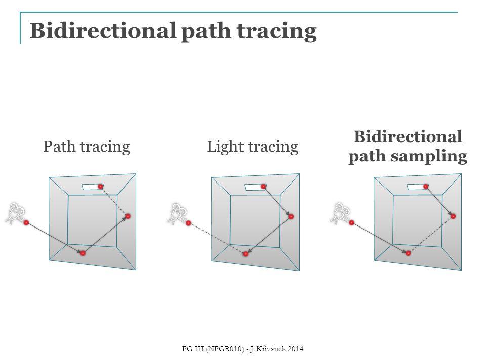 Bidirectional path tracing Path tracingLight tracing Bidirectional path sampling PG III (NPGR010) - J. Křivánek 2014