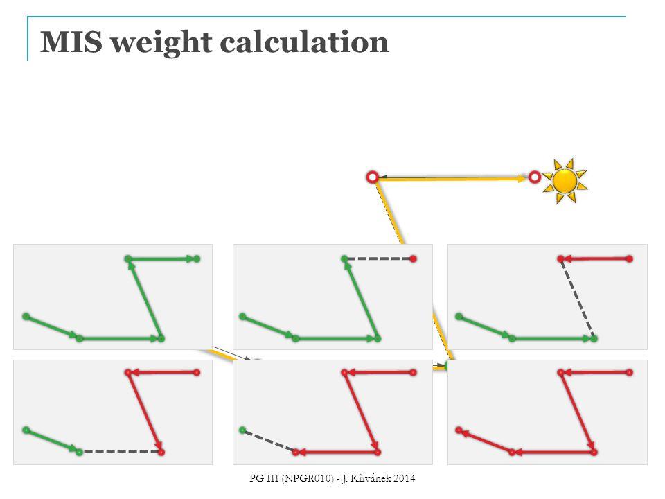 MIS weight calculation PG III (NPGR010) - J. Křivánek 2014