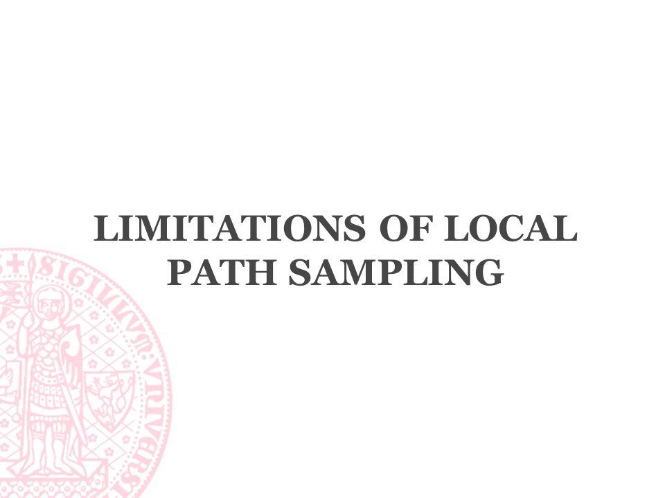LIMITATIONS OF LOCAL PATH SAMPLING