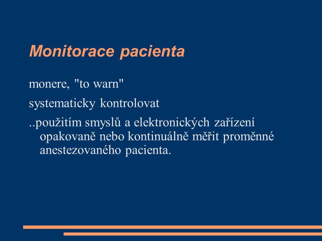 Monitorace pacienta monere,