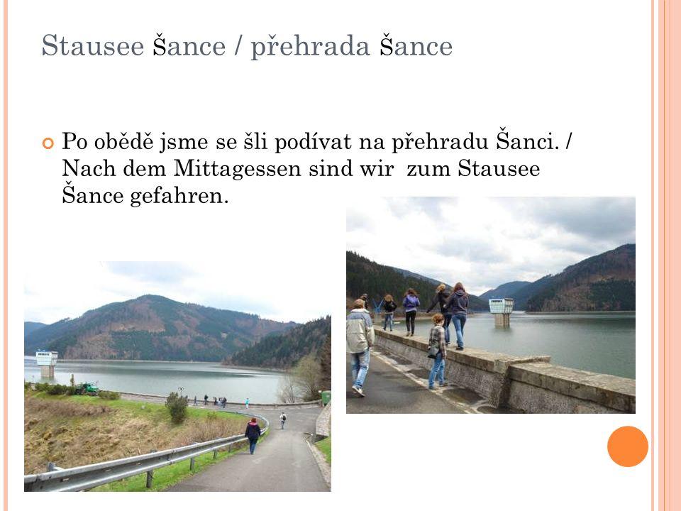 Stausee Š ance / přehrada Š ance Po obědě jsme se šli podívat na přehradu Šanci.